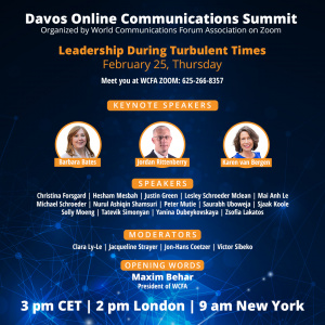 Global Professional Speakers at Online WCFA Summit - February 25, 3 pm CET on Zoom